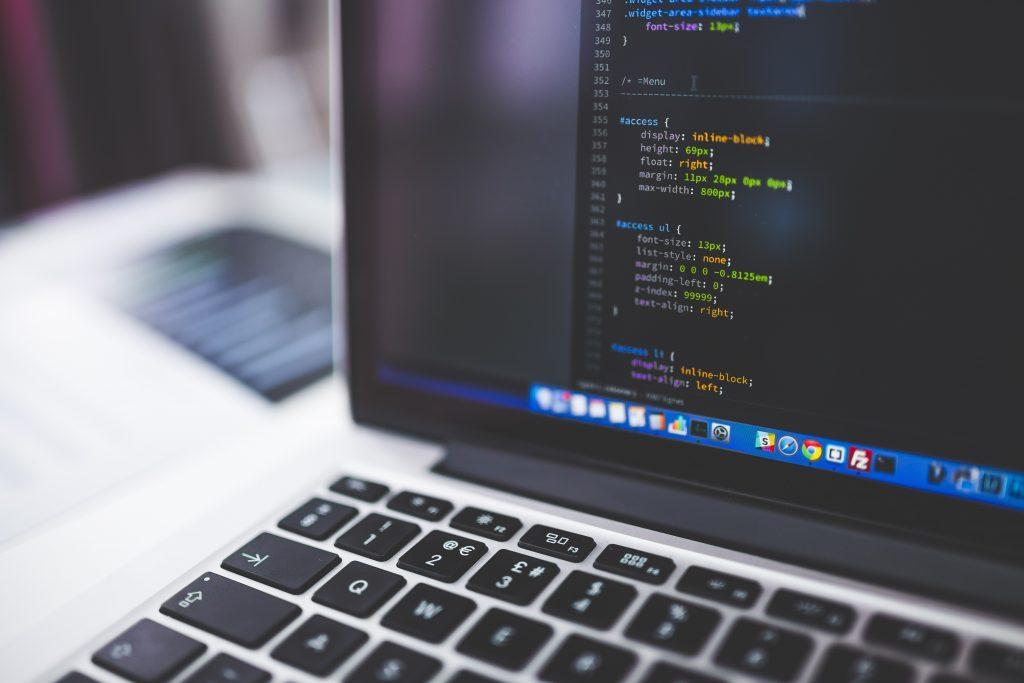 Code laptop